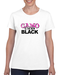 Camo Is The New Black / Pink T Shirt