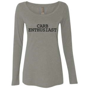 Carb Enthusiast / Next Level Ladies' Triblend LS Scoop