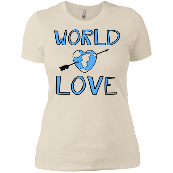 World Love / NL3900 Next Level Ladies' Boyfriend T-Shirt