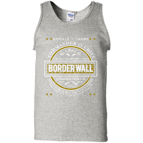 Donald Trump Commander in Chief Border Wall Construction Company Tank Top