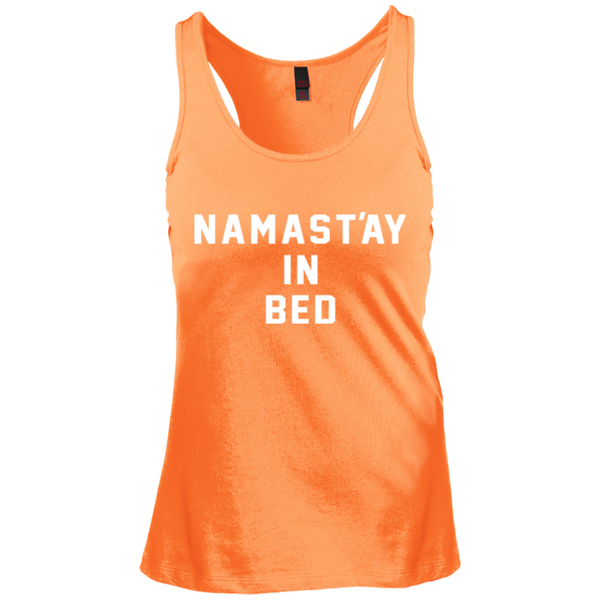 Namast'ay in Bed / DT237 District Junior's Racerback Tank Top