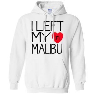 I Left My Heart In Malibu / Gildan Pullover Hoodie 8 oz.