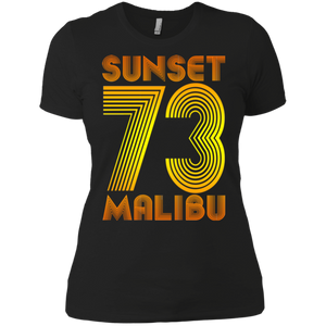 Sunset Malibu 73 / NL3900 Next Level Ladies' Boyfriend T-Shirt