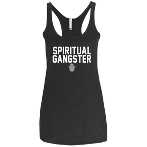 Spiritual Gangster/Next Level Ladies' Triblend Racerback Tank