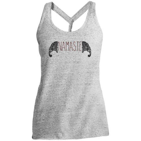 Namaste Henna Elephant / DM466 District Made Ladies Cosmic Twist Back Tank