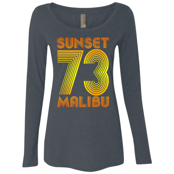 Sunset Malibu 73 / NL6731 Next Level Ladies' Triblend LS Scoop