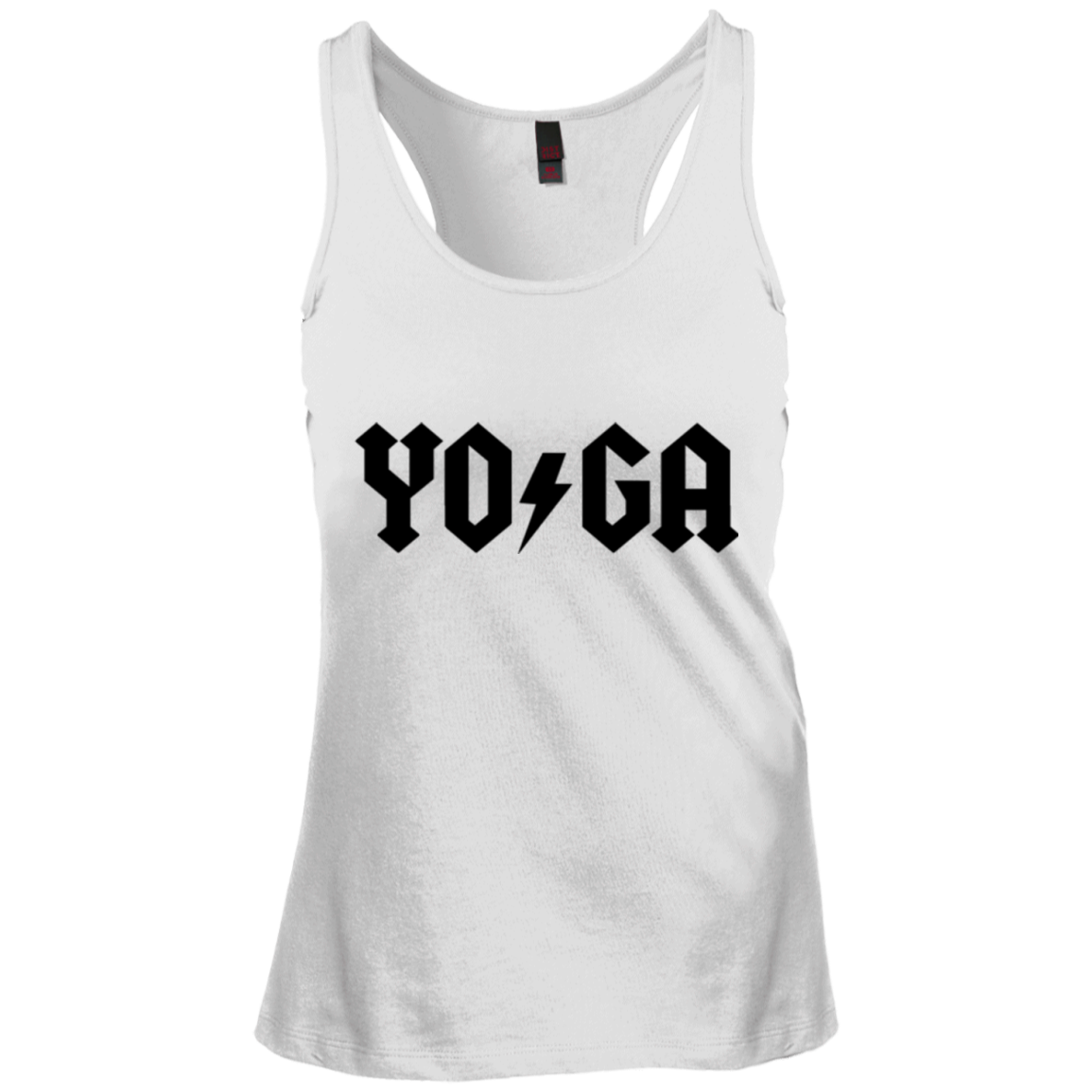 Yoga Lightning Bolt / District Junior's Racerback Tank Top