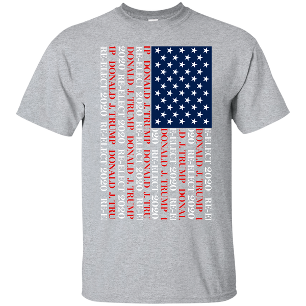 Donald J Trump Re Elect 2020 American Flag T-Shirt