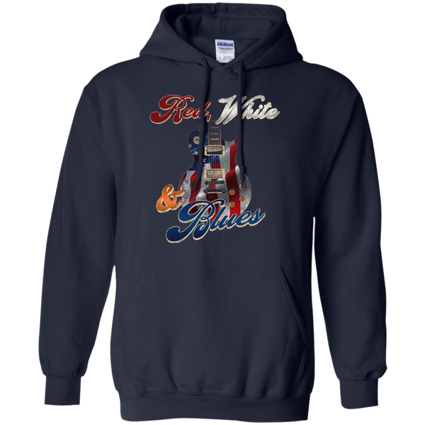Red White and Blues Guitar Hoodie