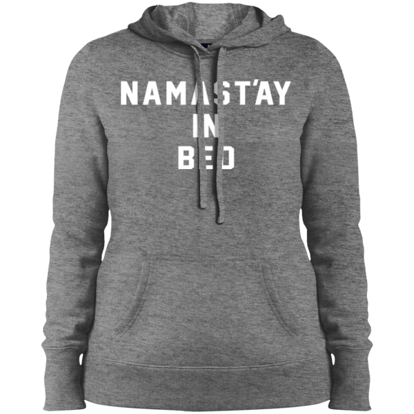Namast'ay in Bed / LST254 Sport-Tek Ladies' Pullover Hooded Sweatshirt