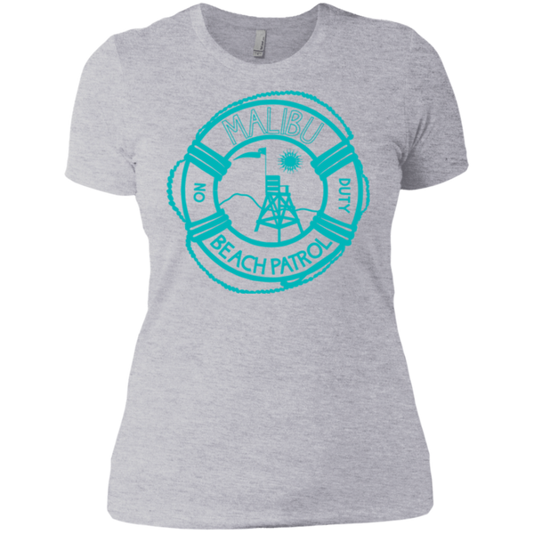 Malibu Beach Patrol - NL3900 Next Level Ladies' Boyfriend T-Shirt