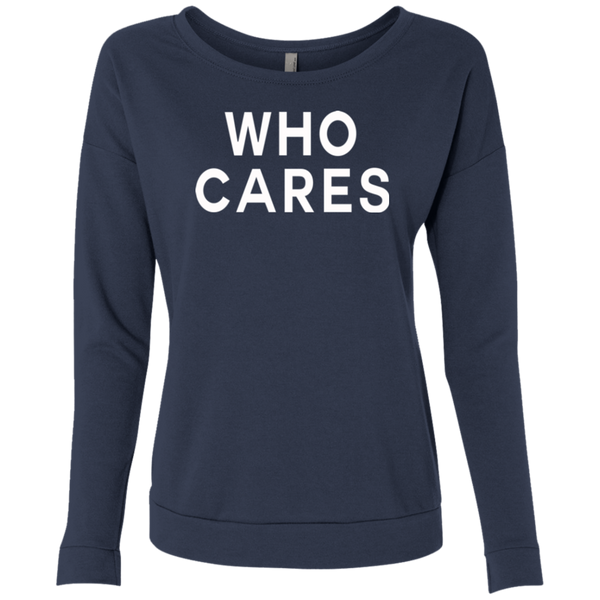 Who Cares / NL6931 Next Level Ladies' French Terry Scoop