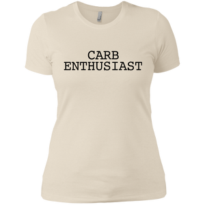 Carb Enthusiast / Next Level Ladies' Boyfriend T-Shirt
