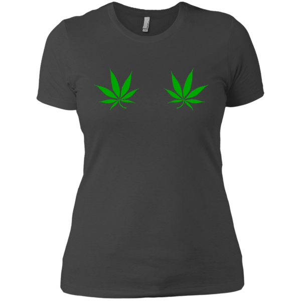 Pot Leafs / NL3900 Next Level Ladies' Boyfriend T-Shirt