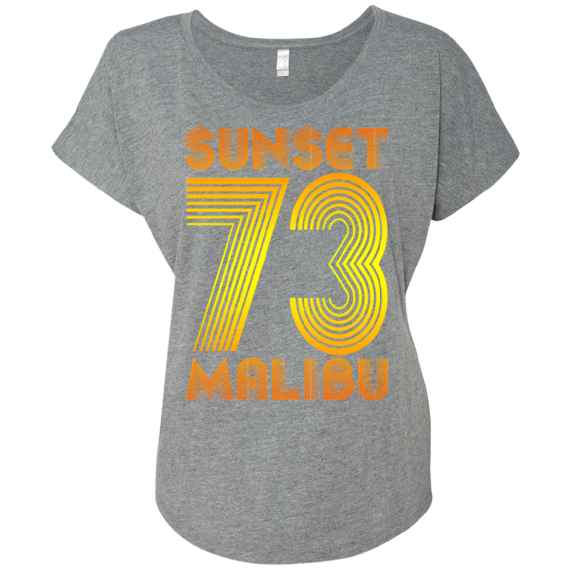 Sunset Malibu 73 / NL6760 Next Level Ladies' Triblend Dolman Sleeve