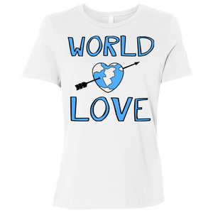 World Love / B6400 Bella + Canvas Ladies' Relaxed Jersey Short-Sleeve T-Shirt