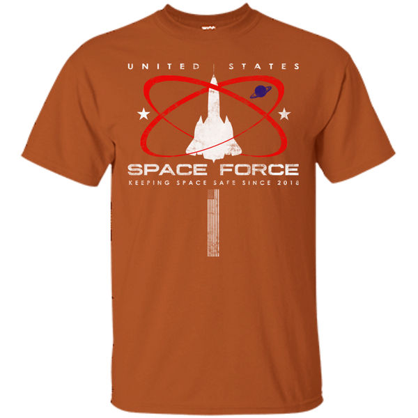 United States Space Force / Making Safe Since 2018 With American Flag T-Shirt