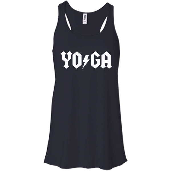 Yoga Lightning Bolt / Bella + Canvas Flowy Racerback Tank