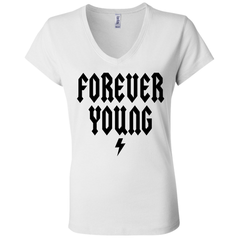 Forever Young / Bella + Canvas Ladies' Jersey V-Neck T-Shirt