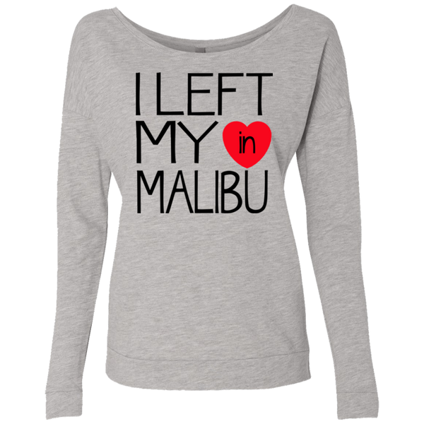 I Left My Heart In Malibu / Next Level Ladies' French Terry Scoop