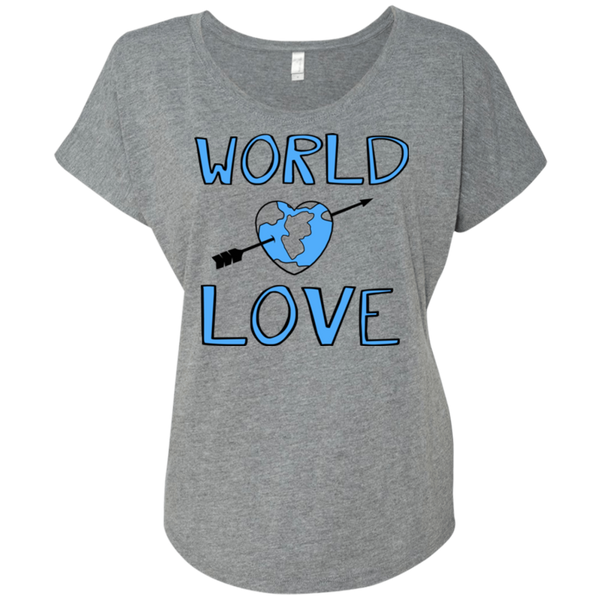 World Love / NL6760 Next Level Ladies' Triblend Dolman Sleeve