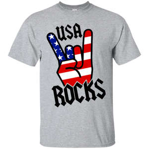 USA Rocks Sign Of The Horns T-Shirt