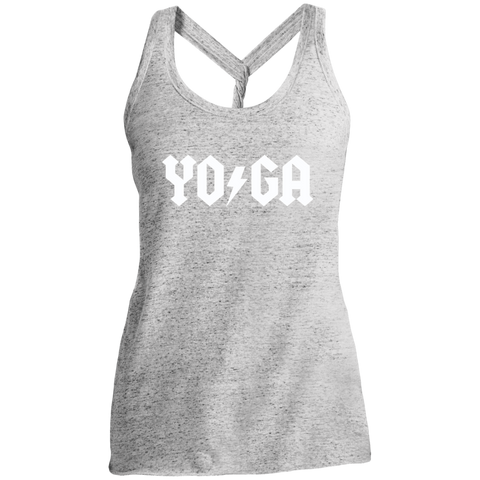 Yoga Lightning Bolt / District Made Ladies Cosmic Twist Back Tank