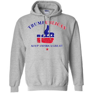 Trumpublican Keep American Great Thumbs Up Hoodie