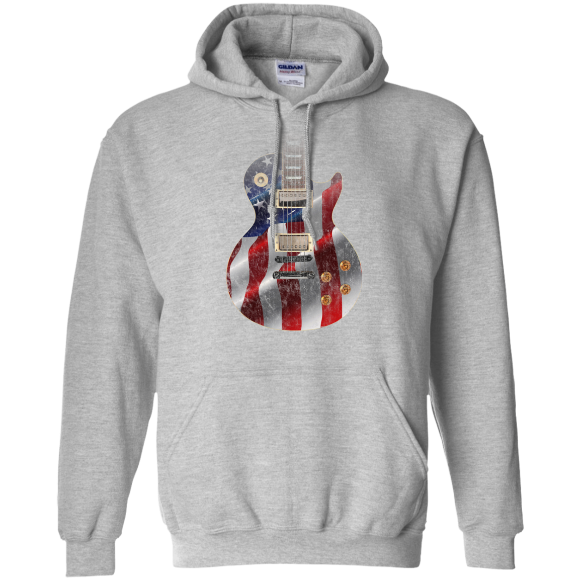 Red White and Blue Guitar Hoodie