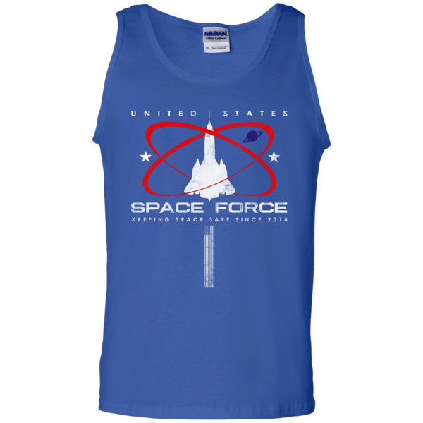 United States Space Force / Making Safe Since 2018 With American Flag Tank Top
