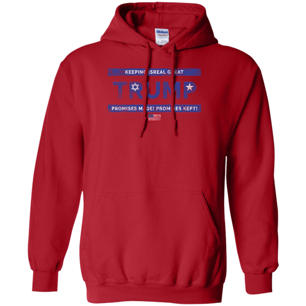 Trump Keeping Isreal Great / Promises Made Promises Kept Hoodie