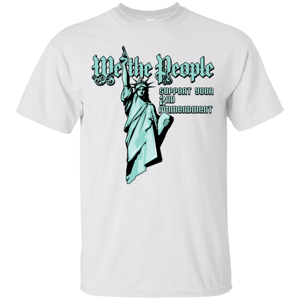 Statue Of Liberty with Gun We The People T-Shirt