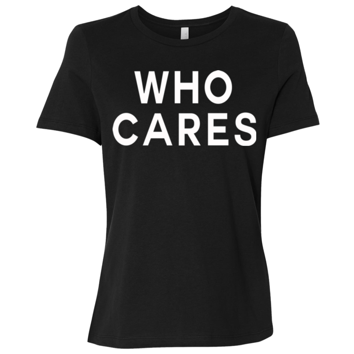 Who Cares / B6400 Bella + Canvas Ladies' Relaxed Jersey Short-Sleeve T-Shirt