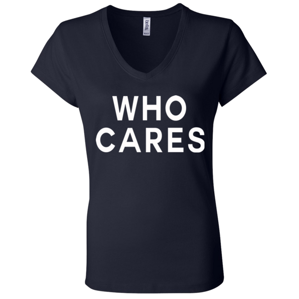 Who Cares /  Bella + Canvas Ladies' Jersey V-Neck T-Shirt