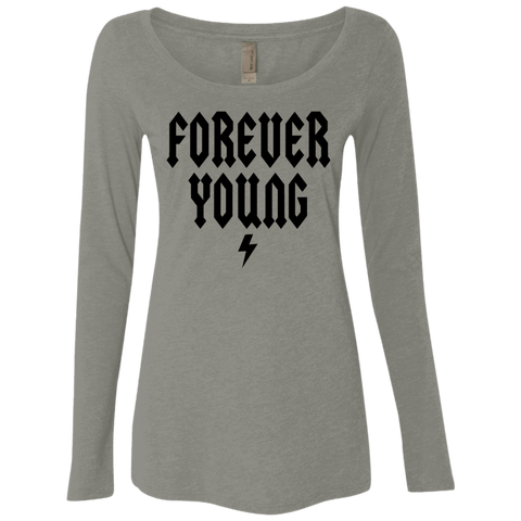 Forever Young / Next Level Ladies' Triblend LS Scoop