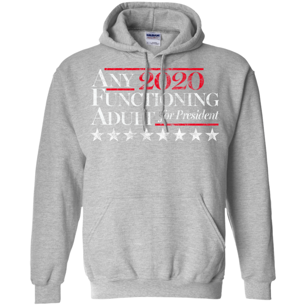 Any Functioning Adult For President 2020 Election Hoodie