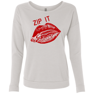 Zip It Lips / NL6931 Next Level Ladies' French Terry Scoop