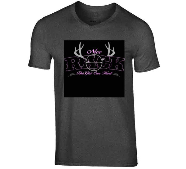 Nice Rack / This Girl Can Hunt / Black T Shirt