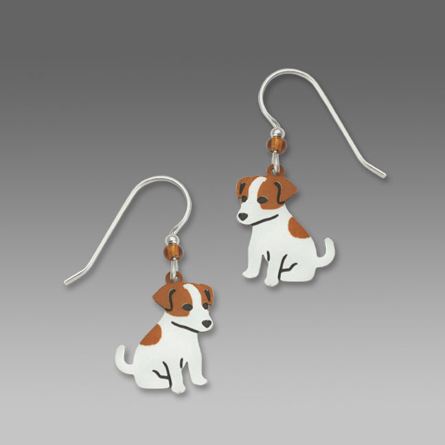 Jack Russell Terrier Puppy Dog Hand Painted Earrings