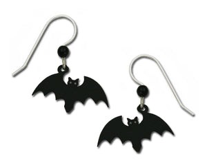 Sienna Sky Black Bat Halloween Earrings Hand Painted