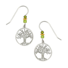 Sienna Sky Tree of Life Filigree Silvertone Handmade Earrings