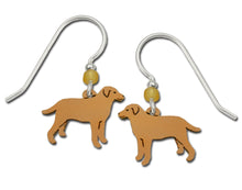 Sienna Sky Max Yellow Lab Labrador Retriever Dog Hand Painted Earrings
