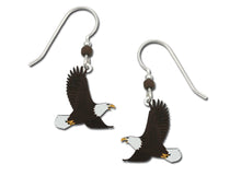 Sienna Sky Bald Eagle Flying Bird Hand Painted Earrings