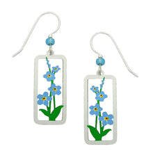 Sienna Sky Forget Me Nots Framed Flower Hand Painted Earrings