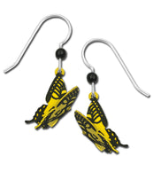 Sienna Sky 3D Folded Tiger Swallowtail Butterfly Hand Painted Earrings