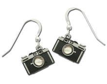 Sienna Sky Vintage Retro Camera Hand Painted Earrings