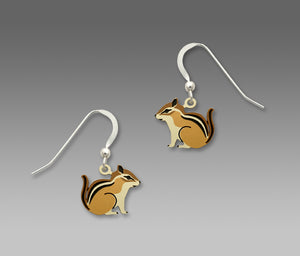 Sienna Sky Chipmunk Hand Painted Earrings