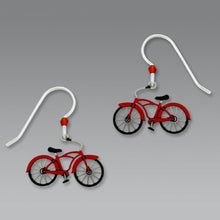 Sienna Sky Vintage Retro Red Bike Hand Painted Earrings