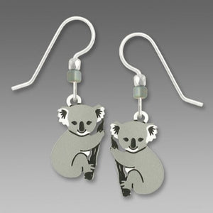 Sienna Sky Koala Bear on Branch Hand Painted Earrings