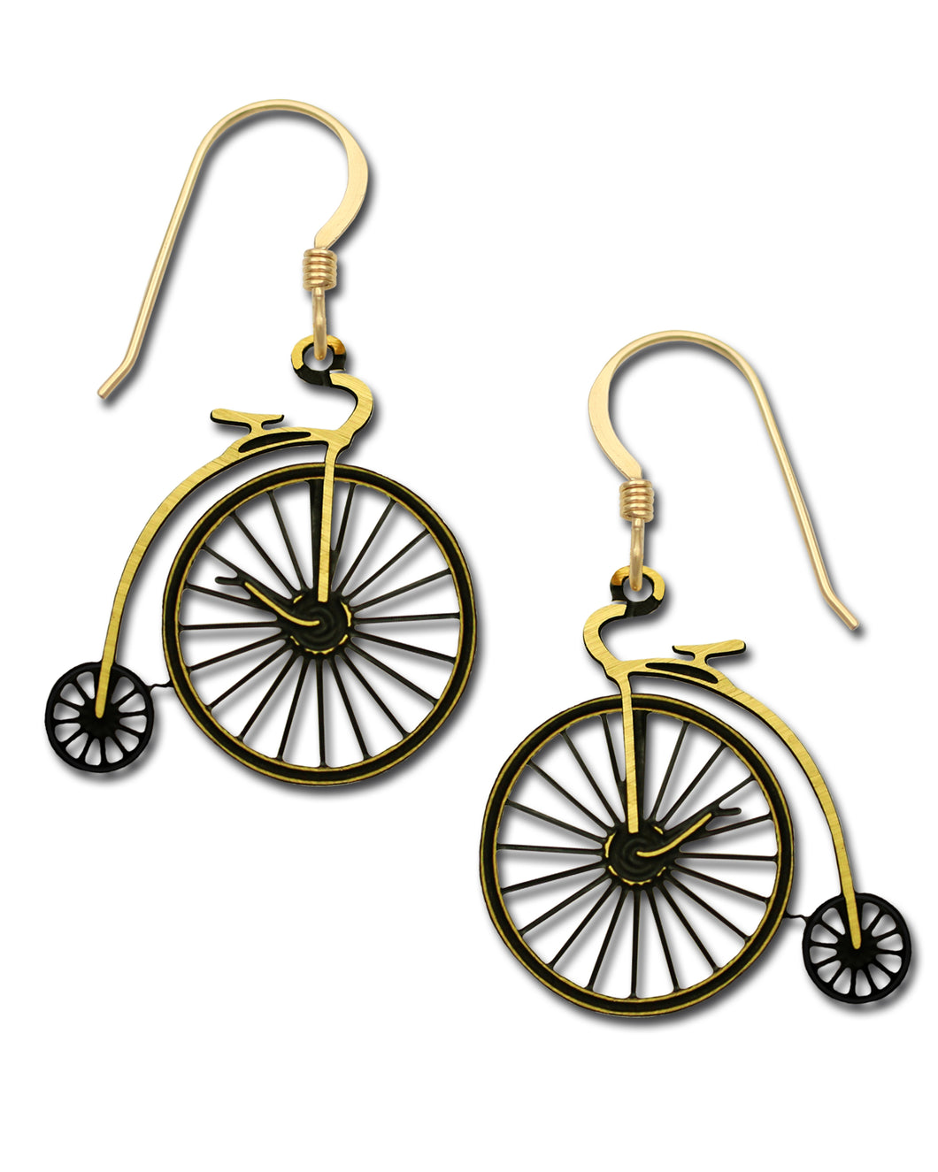 Sienna Sky Velocipede Antique Bicycle Hand Painted Earrings